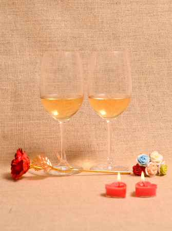 leisurely: white wine background can be used as advertisement