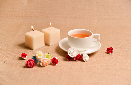 this flower tea background can be used as tea advertisement ,cafe advertisement and etc.