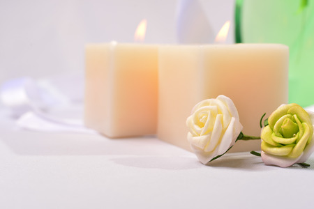 bodywash: candle and flower