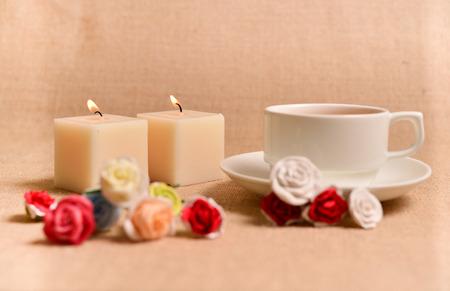 leisurely: tea time  Stock Photo