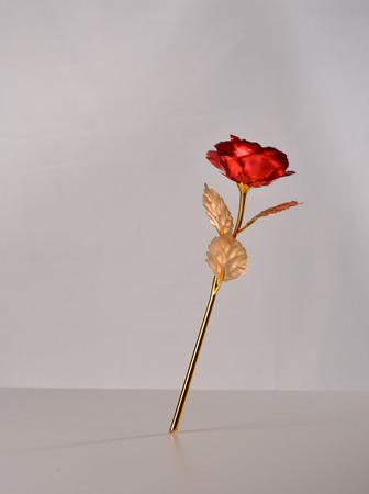 fake red rose