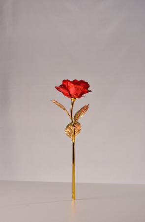 fake: fake red rose