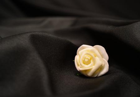 fake white rose