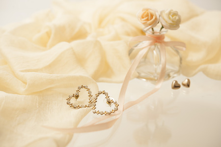 earings can be used as background of accessory Stock Photo
