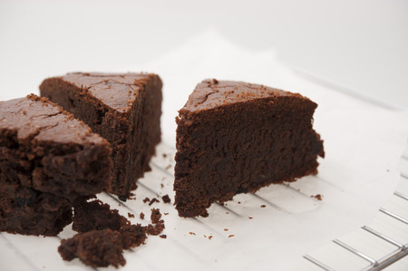 cocoa banana cake can be used as dessert background Stock Photo