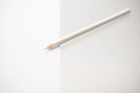 white color: white color pencil
