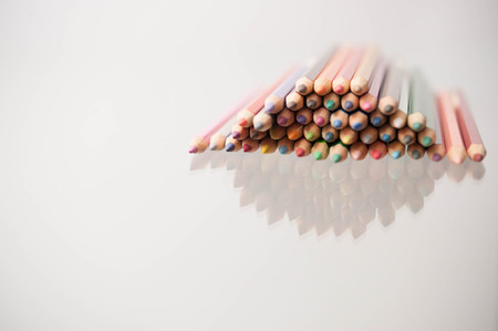 a set of color pencils can be used as background