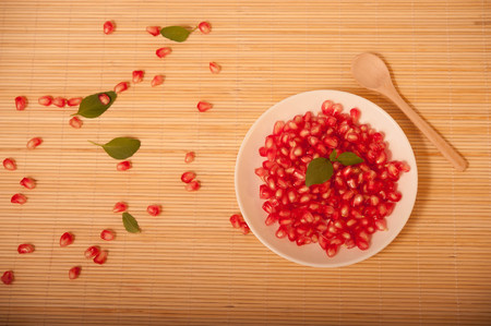 studioshot: pomegranate Stock Photo