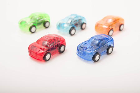 studioshot: colorful toy cars  Stock Photo