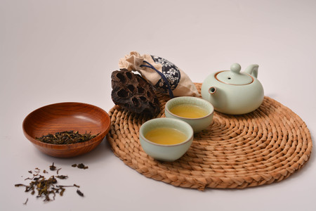 studioshot: tea culture Stock Photo