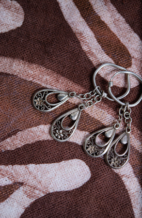 studioshot: pair of silver earings