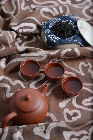 wares: purple clay wares. Stock Photo
