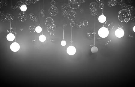 ceiling is full of light-bulbs Stock Photo