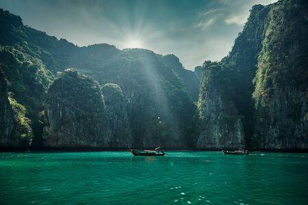 Phi-phi island in Krabi, Thailand Stock Photo