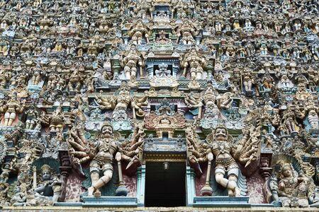 Meenakshi hindu temple in madurai, India.