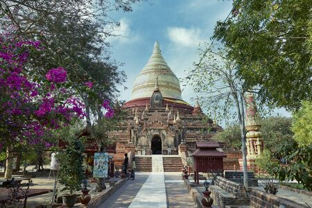 Ancient pagoda in Bagan, Myanmar.