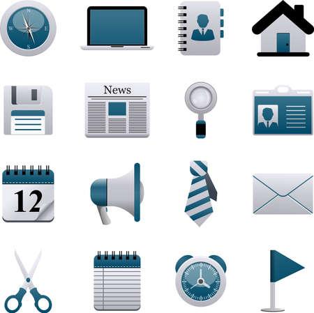 Vector set of business icons. Illusztráció