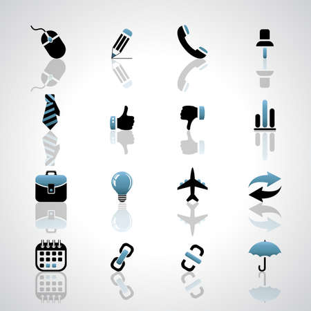 Vector set of business icons. Illustration