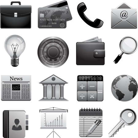 Vector set of business icons. Ilustracja