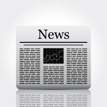 Vector newspaper isolated on white background.