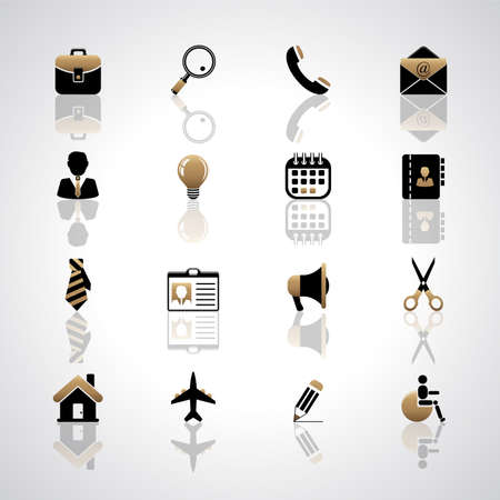 Vector set of business icons. Stock fotó - 150586001