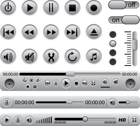 Vector set of music panel.