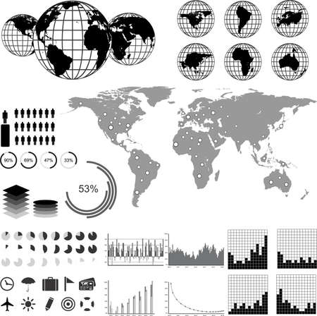 Vector set of infographic elements.