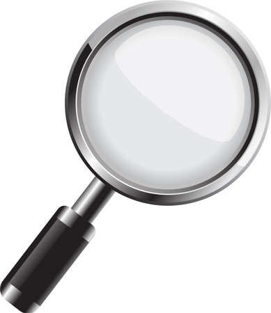Vector magnifying glass isolated on white background