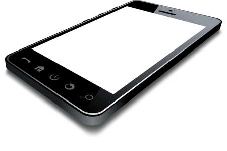 Vector phone isolated on white background.