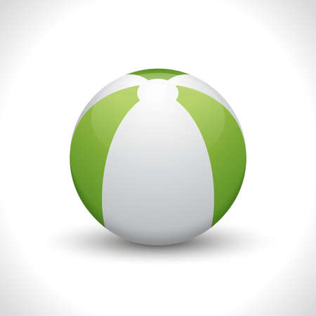 Vector isolated beach ball on white background. Illustration