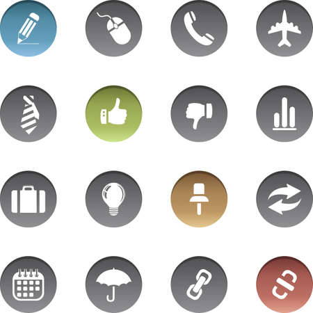 Vector set of business icons. Stock fotó - 150610776