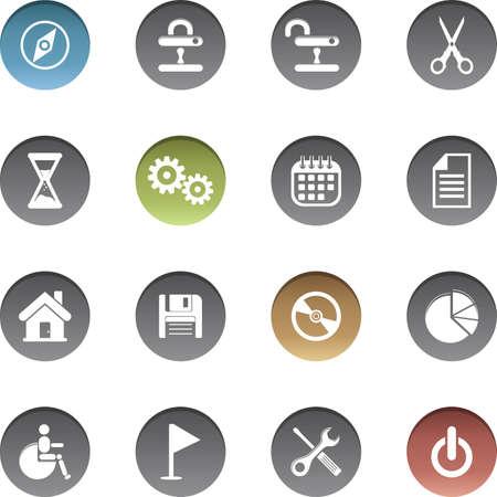 Vector set of web icons. Illusztráció