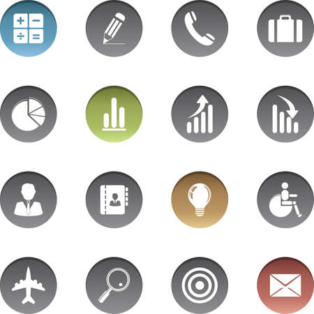 Vector set of finance icons.