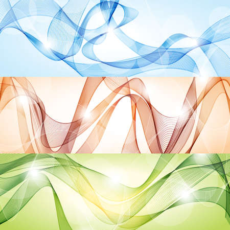 Vector abstract backgrounds with waves