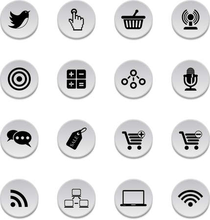 Vector set of internet business icons.