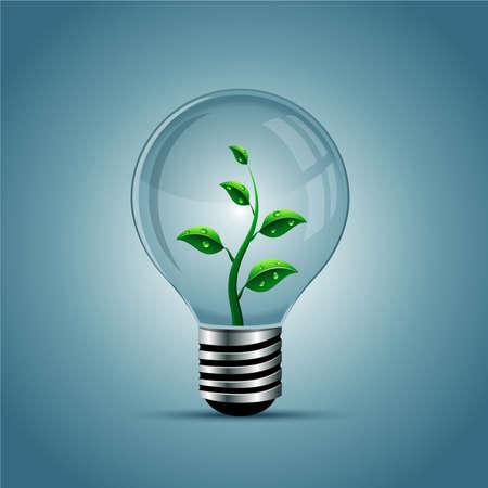 Vector light bulb, eco concept Vector Illustratie