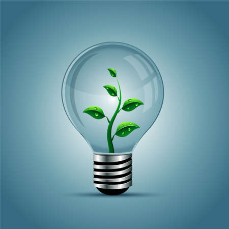 Vector light bulb, eco concept Vektoros illusztráció