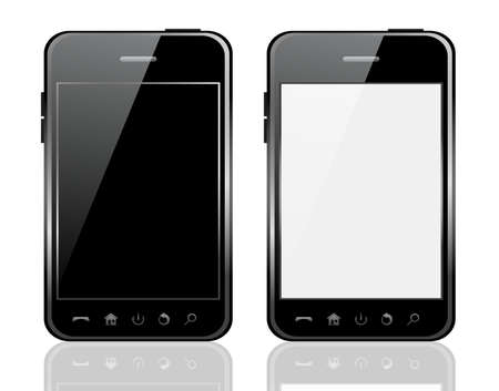 Vector phone isolated on white background
