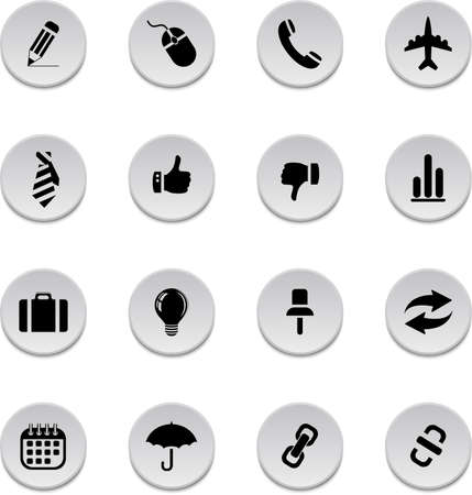 Vector set of business icons