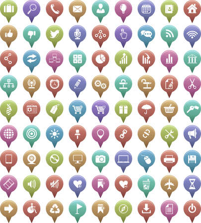 Vector large set of icons