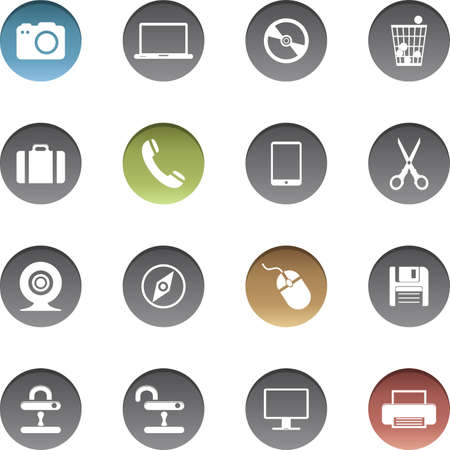 Vector set of internet icons.