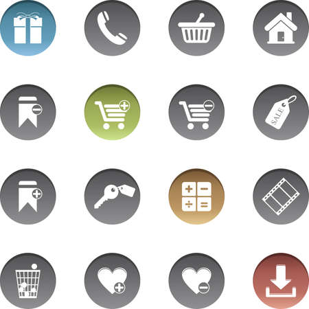 Vector set of shopping icons.