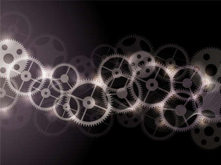 Vector abstract background with gears.