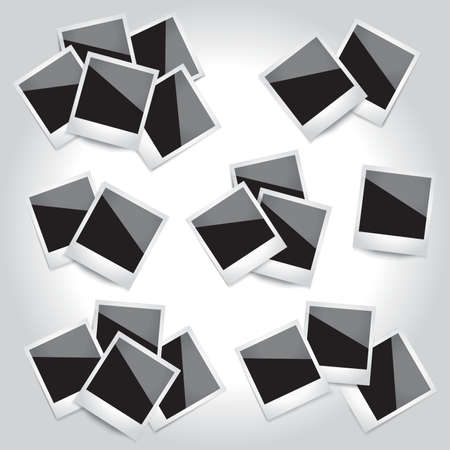 Vector set of photo frames.