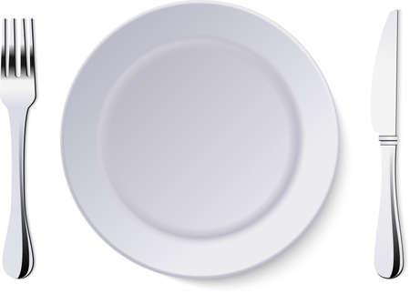 Vector plate isolated on white background. Ilustração Vetorial