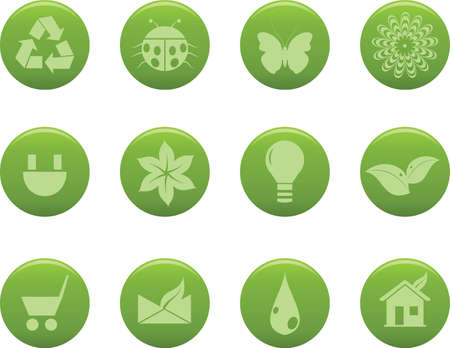 Vector icons for eco concept.