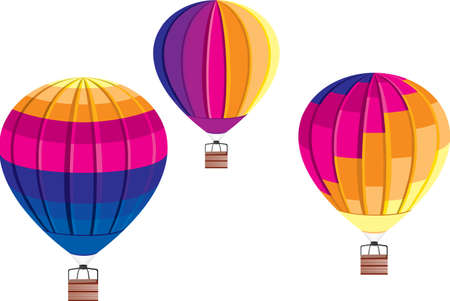 Vector Air Ballons on white background.