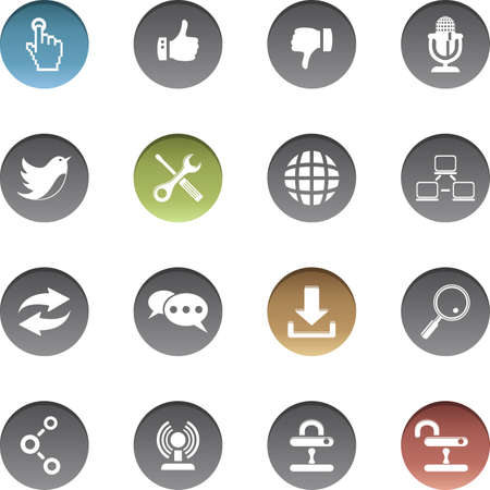 Vector set of communication icons. Archivio Fotografico - 150612845