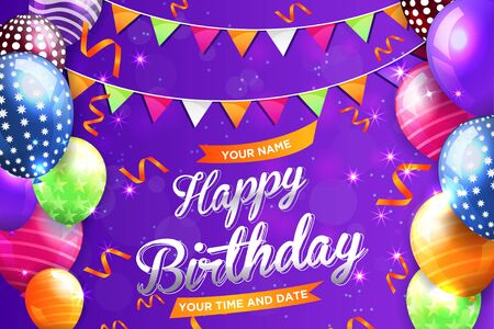 happy birthday colour full banner background