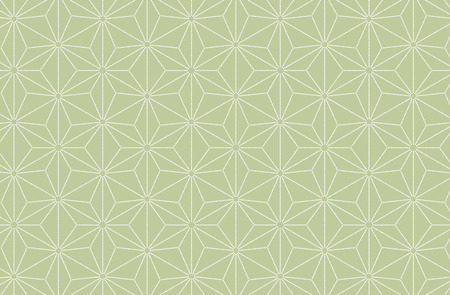 Japanese traditional pattern kimono flower background green